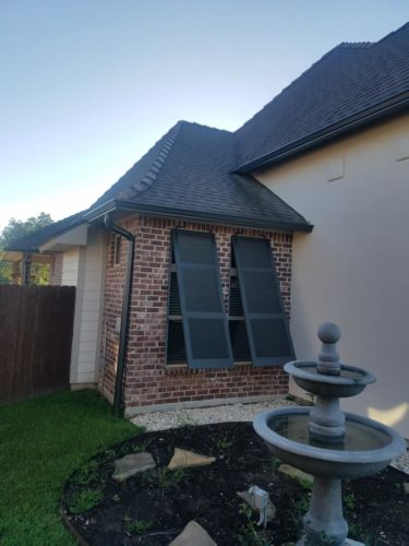 Gutters installed on home - Lafayette, LA